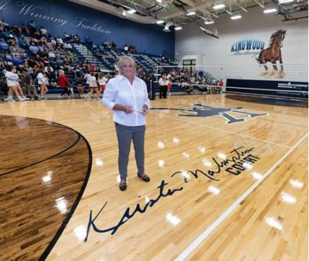 KHS Volleyball Court Named For Coach Krista Malmstrom