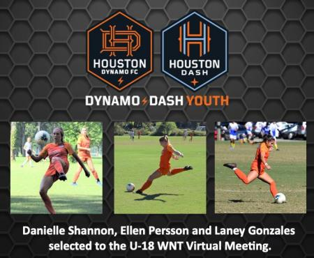 Dynamo Dash Youth Announces National Team Placements