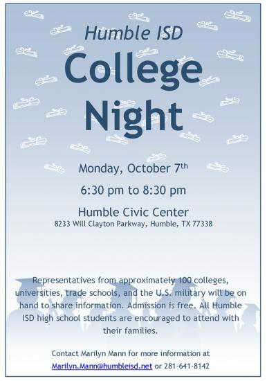 Humble ISD College Night