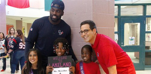 Star Visits Humble Kids Before STAAR Testing