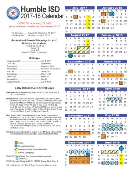 New School Calendar Released After Weather Days