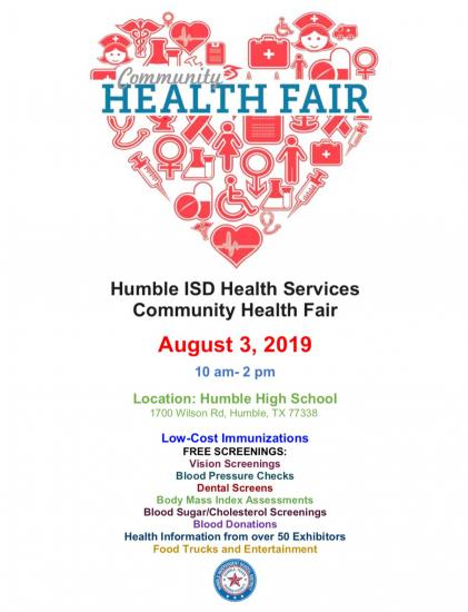 Humble ISD Health Fair
